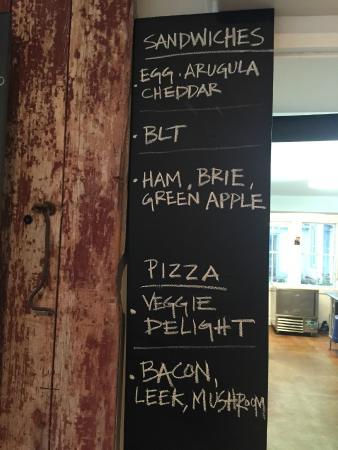 The Sweet Spot: Sandwich Menu