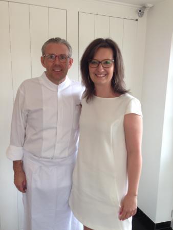 Hof van Cleve : girlfriend and chef Peter Goossens