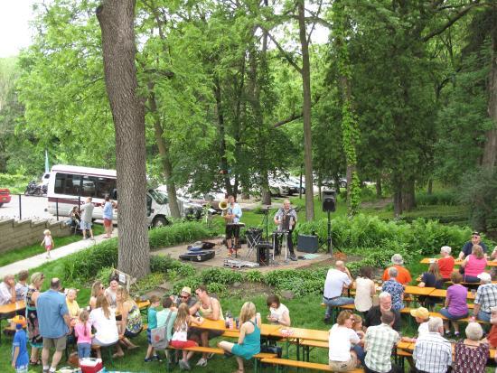 Schell's: Summer Bier Garten. Sat. and Sun.: Noon - 4:30. Live Music Sundays only. Open weather permitting