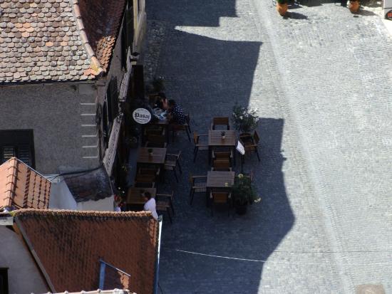 Restaurant Pasaj: The little, fancy terrace