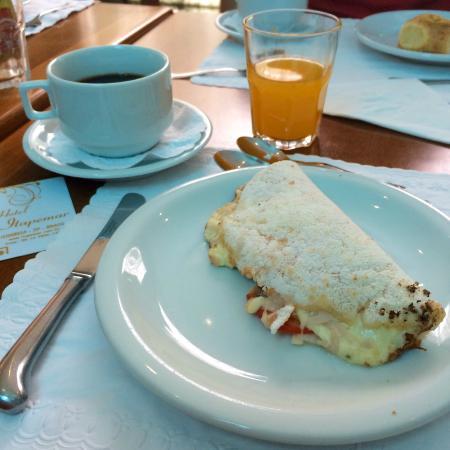 Tapioca feita na hora no café da manhã
