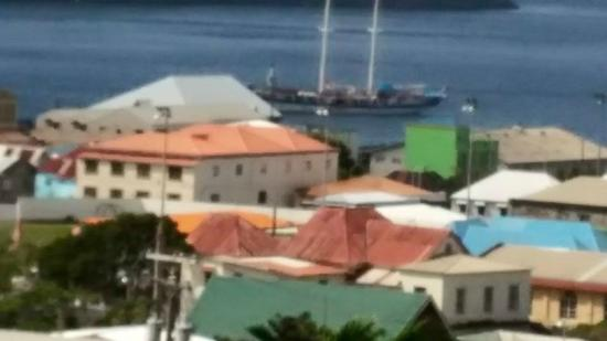 The New Montrose Hotel : A view of Kingstown, Saint Vincent from New Montrose Hotel