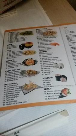 Sushi Ume: Menu