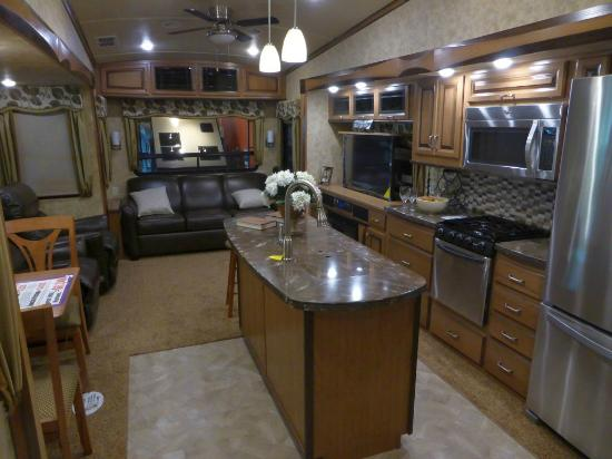 RV/MH Hall of Fame and Museum: 2015 Forest River Cedar Creek - interior
