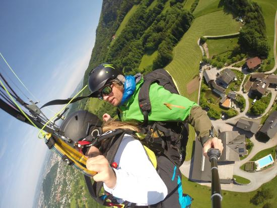 FlyTandem Paragliding: View right after take off