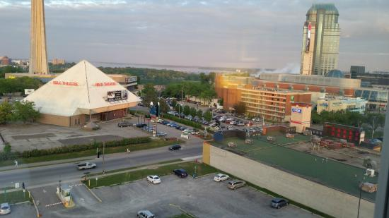Veiw From Room On 9th Floor Picture Of Wyndham Garden Niagara Falls Fallsview Niagara Falls
