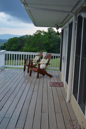 Pearisburg, VA: Our part of the deck.