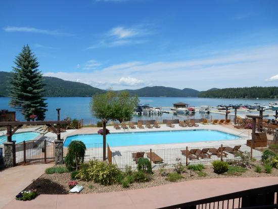 gorgeous outdoor pool and marina outside the main lodge picture of rh tripadvisor com