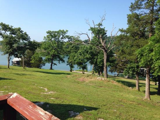 Calm Waters Resort: This is Cabin 110 and the view from the deck.