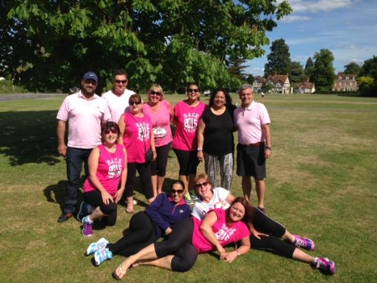 The George on The Green: The Pink Power Puffs complete the Race for Life Windsor