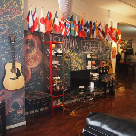 IHSP Chicago Hostel: Common room