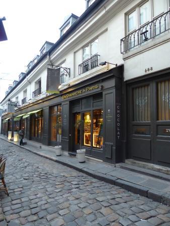 fachada picture of un dimanche a paris paris tripadvisor. Black Bedroom Furniture Sets. Home Design Ideas