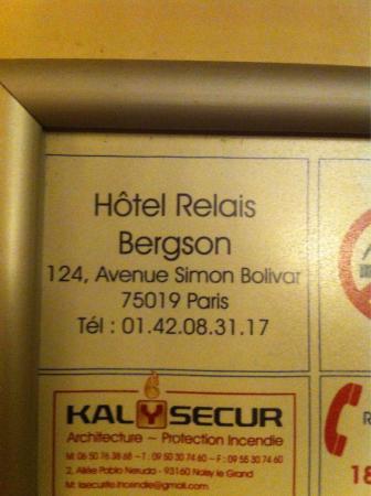 Hotel Avenue Simon Bolivar Paris