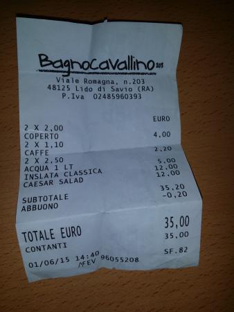 Lido Di Savio, Italien: Per il proprietario .... quindi si sbagliava ? E' un pò diverso da quello che ha detto lei non t