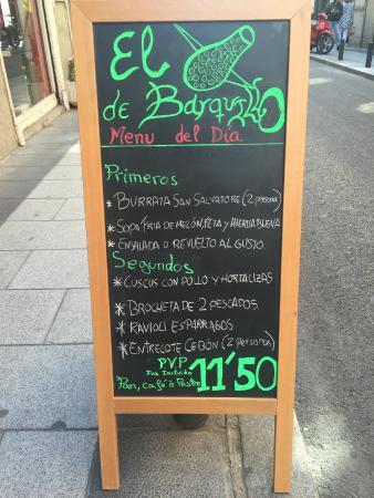 El Pepinillo de Barquillo: Menú diario