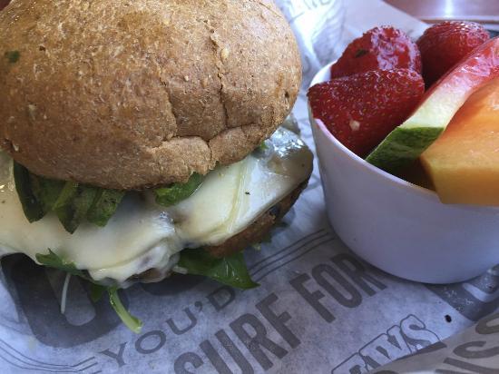 Paia, HI: Veggie Burger with Avocado