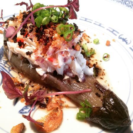 Burnt Nasu with Crab and Crispy Shrimp