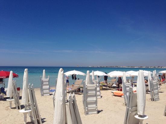 Porto Cesareo, Italie : 30 maggio 2015 questa è la realtà della spiaggia del bassamarea