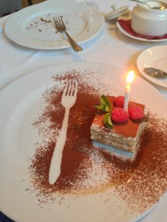 тирамису в подарок на др от ресторана)