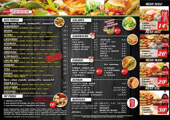Carte 2 Photo De Snack And Co Port Leucate Tripadvisor