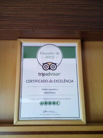 Hotel Douro: Certificado de Excelência 2015