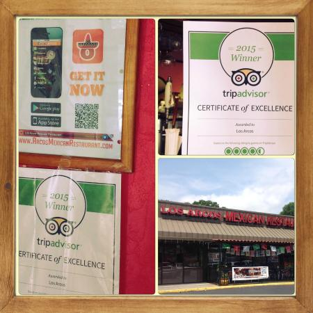 TripAdvisor - Los Arcos's Certificate of excellence