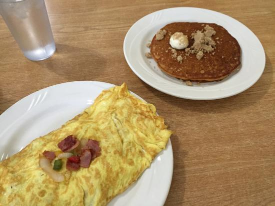 Belfast, NY: Western Omelette and Sweet Potato Pancake