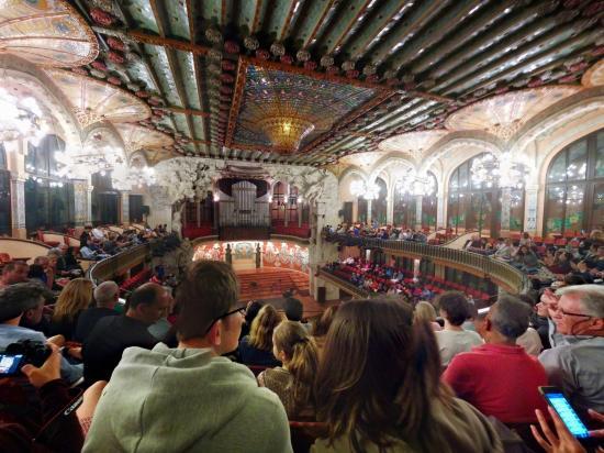 The concert hall - Picture of Palau de la Musica Orfeo ...