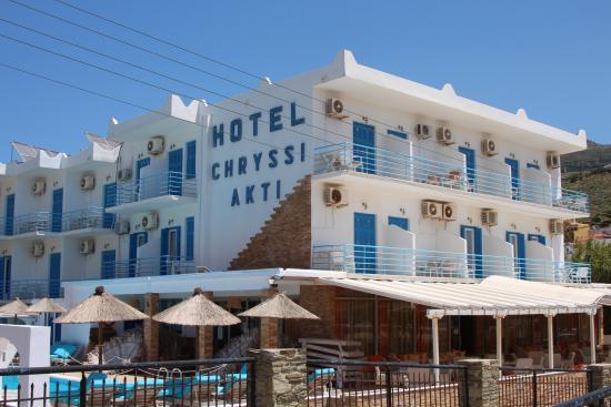 Hotel Chryssi Akti: Het hotel.