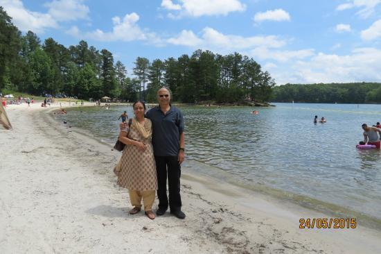 Lake Lanier Islands Me And Pramila At Beach