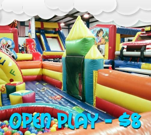 Powell, TN: Open Play means you can come just to jump off that energy!