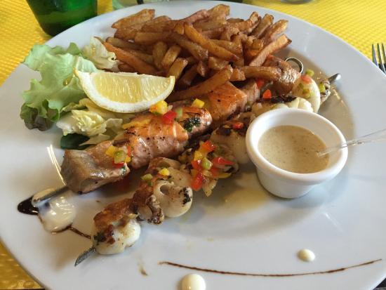 O Brochettes: Spiedini di pesce, fantastici!