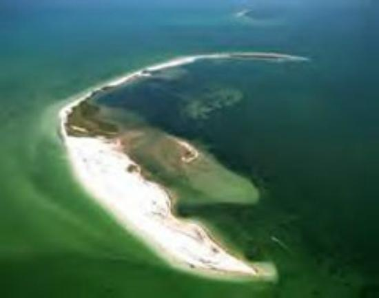 Indian Shores, FL: Aerial view of 3 Rooker Island. Visit this island by renting a boat from IslandMarineRentals.com