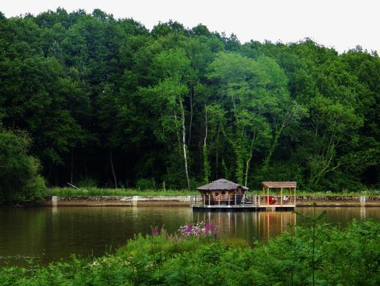 Champrond-en-Gatine, France: Vu sur la cabane Ô lors de notre promenade