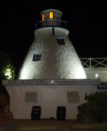 Lighthouse at Breakers: Night view