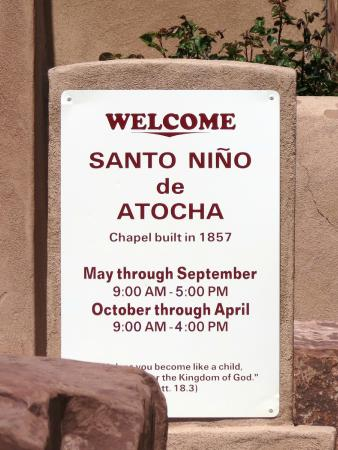 Santo Niño Chapel : Services sign