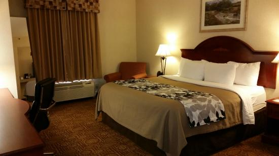 Sleep Inn and Suites: Well Appointed and Spacious Room