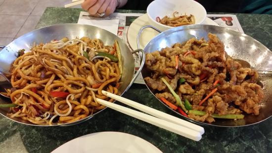9 + Nine Chinese Cuisine: Spicy Shanghai Noodles, Ginger Beef