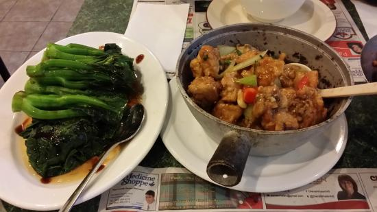 9 + Nine Chinese Cuisine: Gai Lan, Ginger Chicken