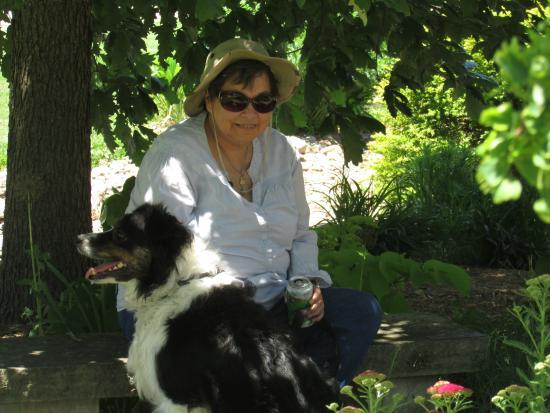 Iowa Arboretum: Me & my dog...on the hottest day so far!