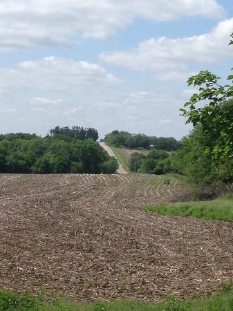 Walton, NE : View of Rolling Hills from entrance to Prairie Creek Inn