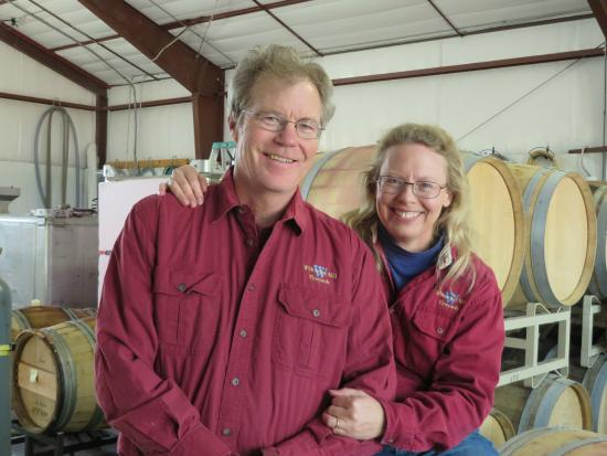 Whitewater Hill Vineyards: Owners John and Nancy