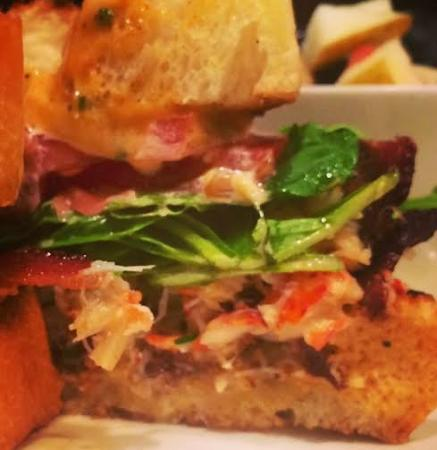 The Lime Lite: Lobster BLT: Applewood Smoked Bacon, Tomato, Arugula, Bacon Mayo on a Toasted Pullman