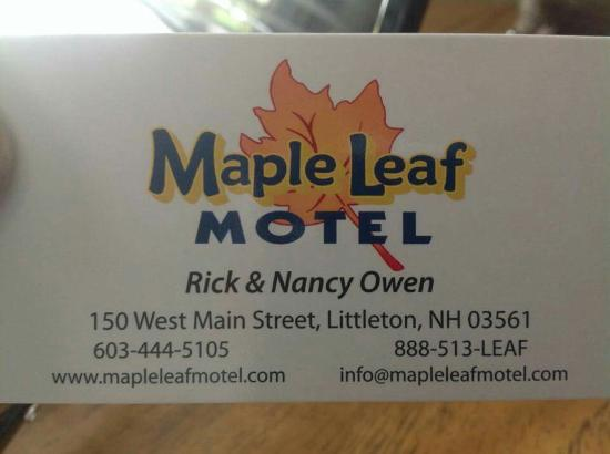 Maple Leaf Motel: Road Trip to Maine.