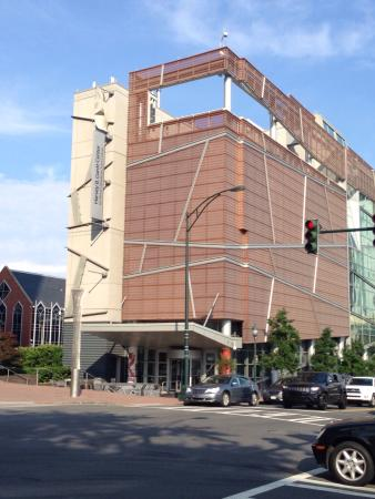 The Harvey B. Gantt Center for African-American Arts + Culture: Exterior view.
