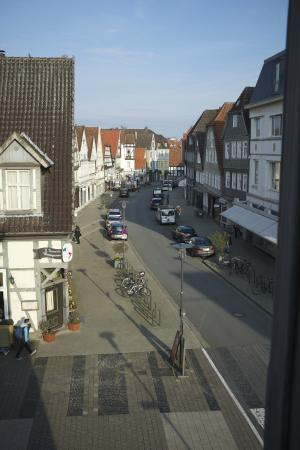 Detmolder Hof: View from room down Krummestrasse