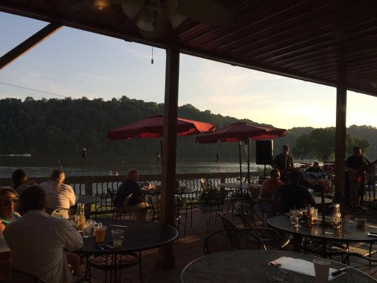 RedBones on the River: Relaxing on the patio