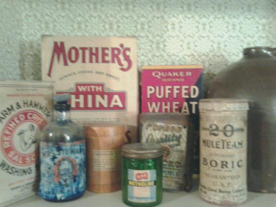Some of the brands that are found in the basement kitchen at the Home of Stone.
