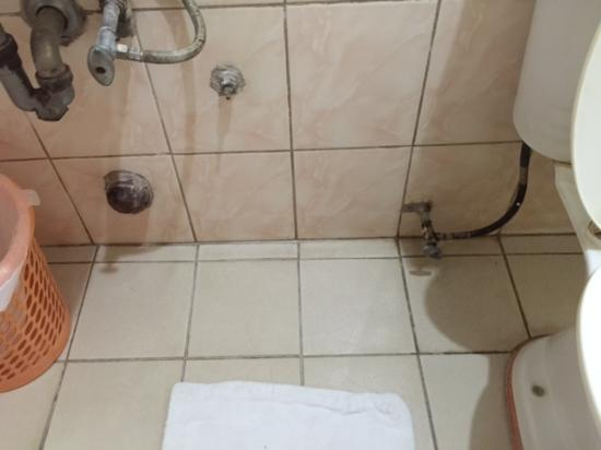 Don Felipe Hotel: Moldy sink pipes and toilet