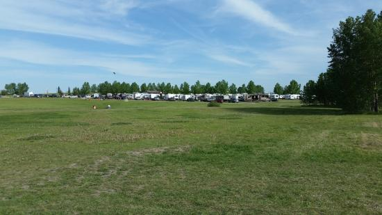 Calaway Park RV Park and Campground : Walking across the field from Calaway (full service sites in view)